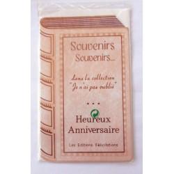 Carte postale neuve avec enveloppe joyeux anniversaire ( lot 26.01)