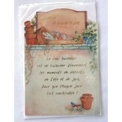 Carte postale neuve avec enveloppe joyeux anniversaire ( lot 26.02)
