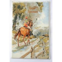 Carte postale neuve avec enveloppe joyeux anniversaire (27.01)