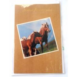 Carte postale neuve avec enveloppe joyeux anniversaire (27.07)