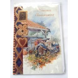 Carte postale neuve avec enveloppe joyeux anniversaire (28.03)