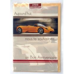 Carte postale neuve avec enveloppe joyeux anniversaire ( lot 28.06)