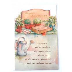 Carte postale neuve avec enveloppe joyeux anniversaire (29.02)