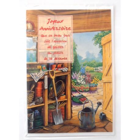 Carte postale neuve avec enveloppe joyeux anniversaire ( lot 30)