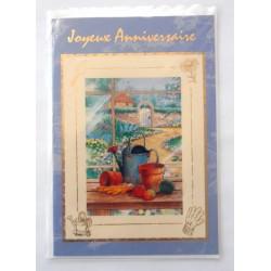 Carte postale neuve avec enveloppe joyeux anniversaire (31.01)