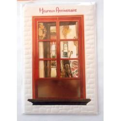 Carte postale neuve avec enveloppe joyeux anniversaire (31.02)