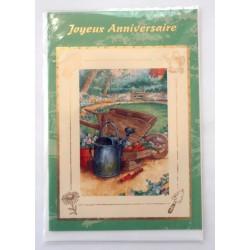 Carte postale neuve avec enveloppe joyeux anniversaire (31.03)