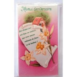 Carte postale neuve avec enveloppe joyeux anniversaire (31.04)