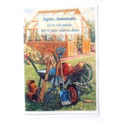 Carte postale neuve avec enveloppe joyeux anniversaire (32.01)
