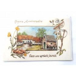 Carte postale neuve avec enveloppe joyeux anniversaire (32.02)