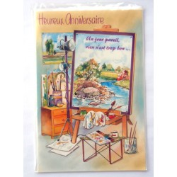 Carte postale neuve avec enveloppe joyeux anniversaire (32.03)