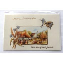 Carte postale neuve avec enveloppe joyeux anniversaire (33.01)