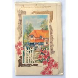 Carte postale neuve avec enveloppe joyeux anniversaire (33.03)