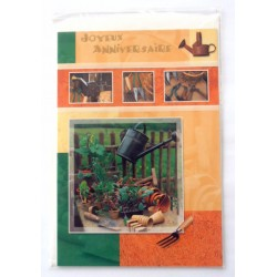 Carte postale neuve avec enveloppe joyeux anniversaire (33.04)