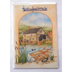 Carte postale neuve avec enveloppe joyeux anniversaire (33.05)