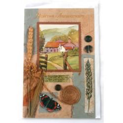 Carte postale neuve avec enveloppe joyeux anniversaire (33.07)