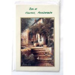 Carte postale neuve avec enveloppe joyeux anniversaire ( 33.09)