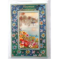 Carte postale neuve avec enveloppe joyeux anniversaire ( 33.10)