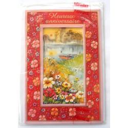 Carte postale neuve avec enveloppe joyeux anniversaire ( 33.11)