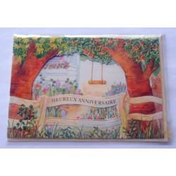 Carte postale neuve avec enveloppe joyeux anniversaire (33.12)