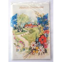 Carte postale neuve avec enveloppe joyeux anniversaire (34.05)