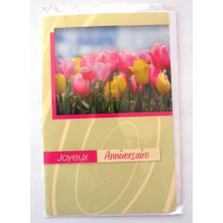 Carte postale neuve avec enveloppe joyeux anniversaire ( lot 36)