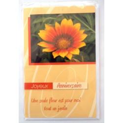 Carte postale neuve avec enveloppe joyeux anniversaire ( lot 37)