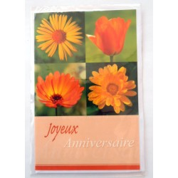 Carte postale neuve avec enveloppe joyeux anniversaire ( lot 38)