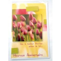 Carte postale neuve avec enveloppe joyeux anniversaire ( lot 39)