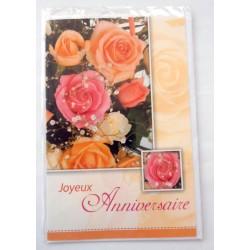 Carte postale neuve avec enveloppe joyeux anniversaire (40.01)