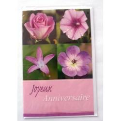 Carte postale neuve avec enveloppe joyeux anniversaire (40.03)