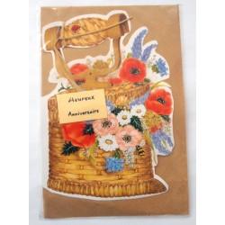 Carte postale neuve avec enveloppe joyeux anniversaire ( 40.05)
