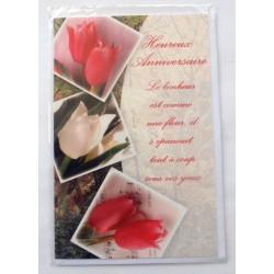 Carte postale neuve avec enveloppe joyeux anniversaire ( lot 41)