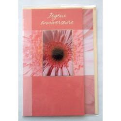 Carte postale neuve avec enveloppe joyeux anniversaire (42.01)