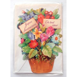 Carte postale neuve avec enveloppe joyeux anniversaire (42.02)