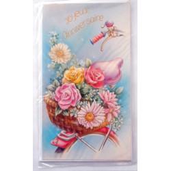 Carte postale neuve avec enveloppe joyeux anniversaire (42.03)
