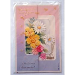 Carte postale neuve avec enveloppe joyeux anniversaire (42.04)