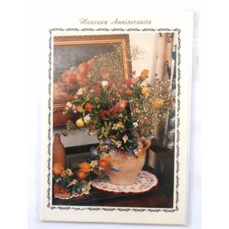 Carte postale neuve avec enveloppe joyeux anniversaire ( lot 42.09)