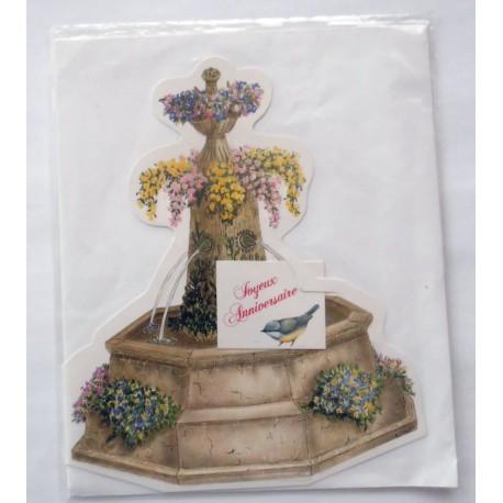Carte postale neuve avec enveloppe joyeux anniversaire ( lot 42.10)