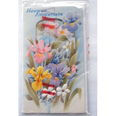 Carte postale neuve avec enveloppe joyeux anniversaire ( lot 42.13)