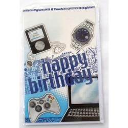 Carte postale neuve avec enveloppe joyeux anniversaire ( lot 43)