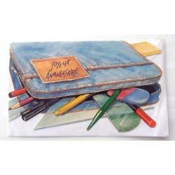 Carte postale neuve avec enveloppe joyeux anniversaire (47.02)