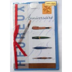 Carte postale neuve avec enveloppe joyeux anniversaire (47.03)