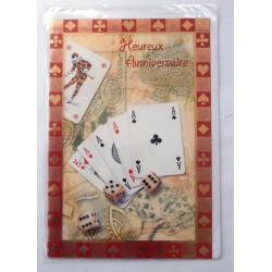 Carte postale neuve avec enveloppe joyeux anniversaire (47.05)