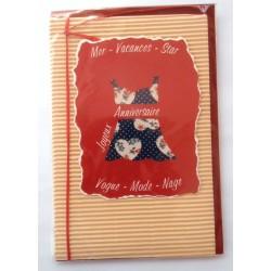 Carte postale neuve avec enveloppe joyeux anniversaire 47.08)