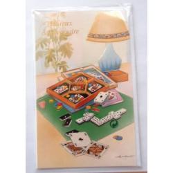 Carte postale neuve avec enveloppe joyeux anniversaire (48.01)