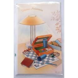 Carte postale neuve avec enveloppe joyeux anniversaire (49.01)