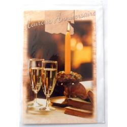 Carte postale neuve avec enveloppe joyeux anniversaire ( lot 49.09)