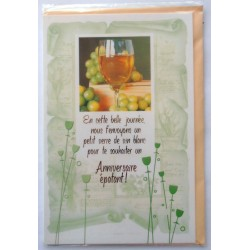 Carte postale neuve avec enveloppe joyeux anniversaire ( lot 49.10)