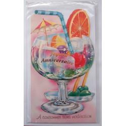 Carte postale neuve avec enveloppe joyeux anniversaire ( lot 49.12)